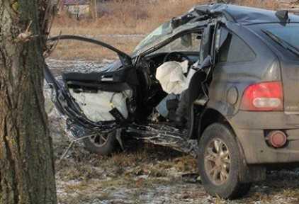 В Навлинском районе  водитель «корейца» погиб, врезавшись в дерево