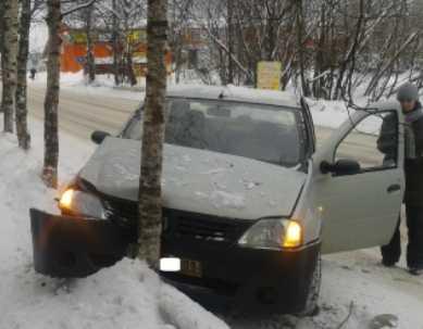 В Брянске  «Рено» врезался в дерево – пострадали трое пассажиров
