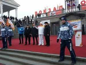 Орел принял олимпийский огонь и отправил его в Брянск