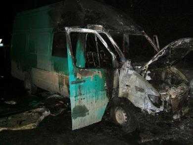 На брянской трассе сгорел  «Мерседес»