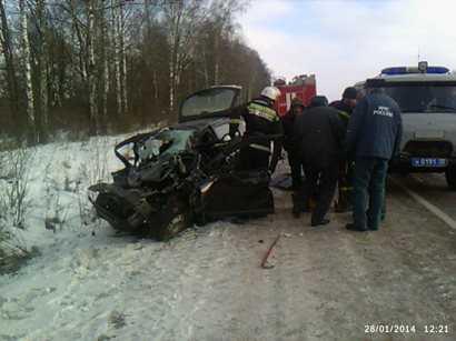 В ДТП под Брянском погибли муж и жена