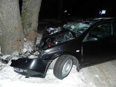 На брянской трассе «Ниссан» врезался в дерево – погиб мужчина