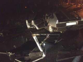 В Новозыбковском районе «девятка» врезалась в столб