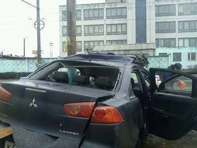 В Брянске «Мицубиси» врезался в столб – водитель погиб