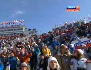 Победу «русского американца» в Сочи встретили брянским флагом