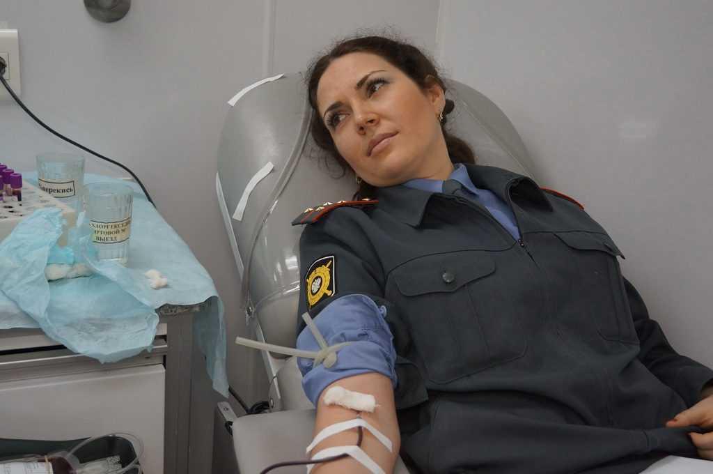 Брянские полицейские сдали пять ведер крови