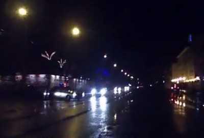 Появилась видеозапись пьяного тарана машины ГИБДД в Брянске