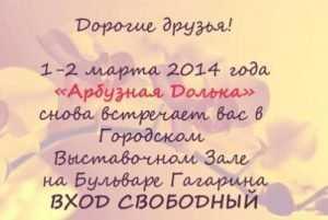 В Брянске пройдёт ярмарка мастеров «Арбузная долька»