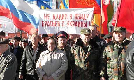 Клинчане провели митинг поддержки русских Украины и Крыма