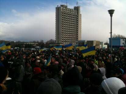 Сумские соседи брянцев провели антироссийский митинг