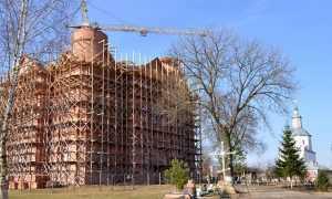 Брянский храм обретет иконостас высотой с семиэтажный дом