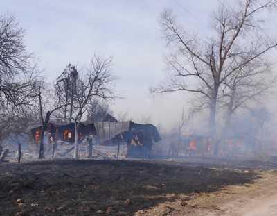 В Суражском районе сгорели шесть домов