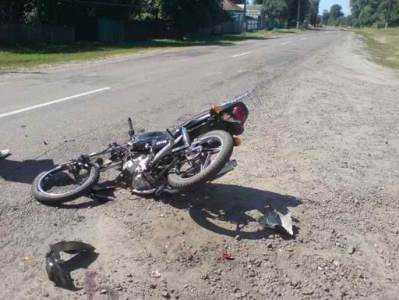 На брянской трассе нашли пьяного мотоциклиста с разбитой головой