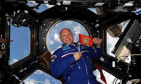 Флаг Брянской области попал в космос