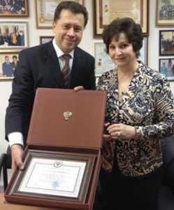 Екатерину Лахову наградили Золотым знаком Генпрокурора