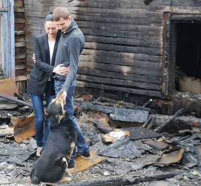 Молодая брянская пара едва не сгорела в своем доме в Судке