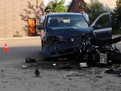 В Брянске пьяный водитель «Рено» переломал мотоциклистов