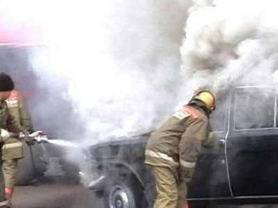В Карачеве неосторожный курильщик сжег автомобиль