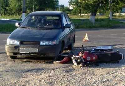 В Дятькове мотоциклист переломал себе позвоночник
