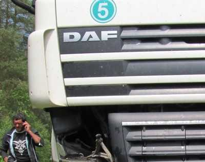 На трассе Брянск – Новозыбков белорус врезался в грузовик
