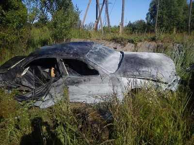 В Клинцах погиб водитель перевернувшегося «БМВ»