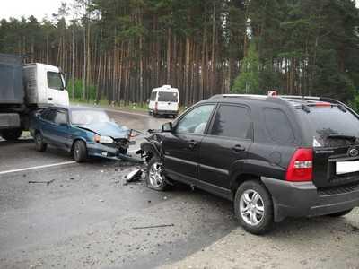 Под Брянском дама спровоцировала аварию и попала в больницу