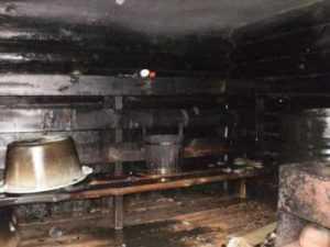 В брянской деревне сгорела баня