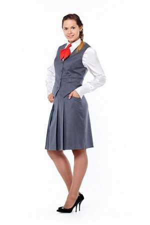 Брянских школьников оденут в форму синего и серого цвета