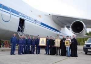 Брянск облетел боевой самолёт с иконами на борту