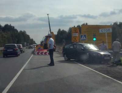 На ремонтируемом мосту киевской трассы в Брянской области случилось ДТП