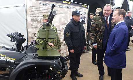 Жуковцы прорекламировали брянскому главе боевые квадрациклы