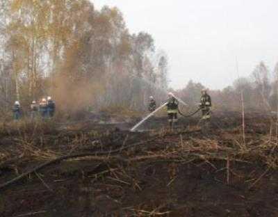 На Брянщине непотушенными остаются четыре торфяных пожара