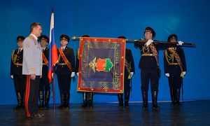 Брянскому УМВД вручили новое знамя