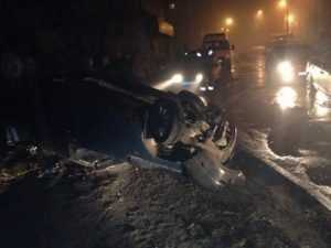В Брянске перевернул «ВАЗ» водитель, за которым гнались полицейские