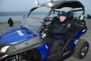 Полицейские патрули будут разъезжать на квадроциклах