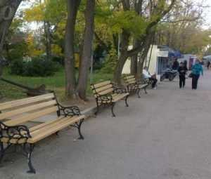 В Севастополе установили скамейку брянского депутата Ивана Медведя