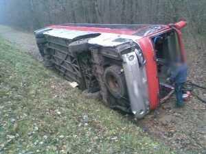 В Калужской области попал в ДТП брянский автобус, есть пострадавшие