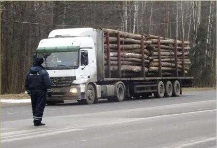 В Брянске полиция уличила водителей лесовозов в 66 нарушениях