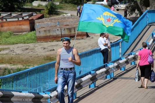 В Брянске для транспорта открыли понтонный мост