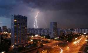 Брянск и Москву потрясли грозы
