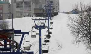 В Брянске на горнолыжной трассе открыли подъемник