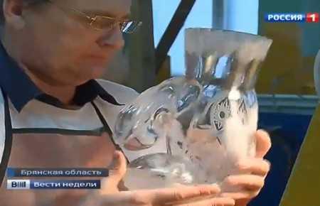 Дмитрий Киселев показал сюжет о брянском хрустале и картошке