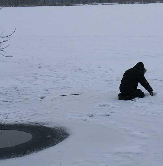 Брянцев попросили не ступать на лед водоемов