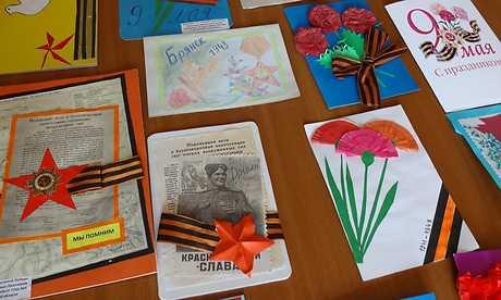 Брянским фронтовикам школьники  изготовили 35 тысяч открыток
