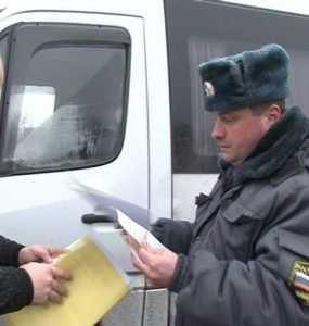В Брянске задержали лишенного «прав» водителя маршрутки