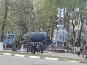 Памятник Брянской дивизии вернули на прежнее место