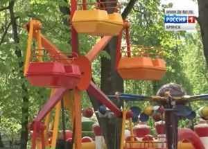 В брянском парке с карусели упала двухлетняя девочка