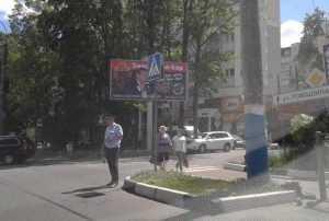 Брянская полиция выставила кордоны около закрытых «зебр»