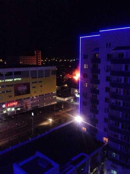 В Брянске огнем расчистили площадку под многоэтажку