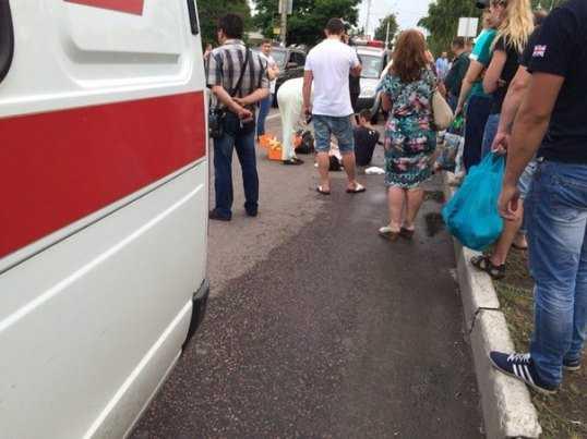 Брянский мотоциклист попал в больницу, сбив пешехода